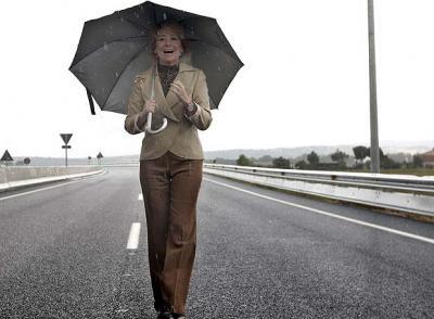 Cantando bajo la lluvia...